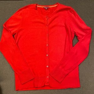 Red Cardigan / Sweater / Cover Up / Shrug